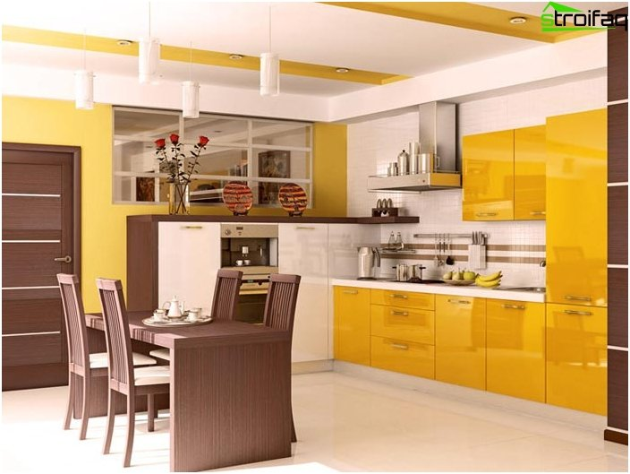 Corner kitchen yellow