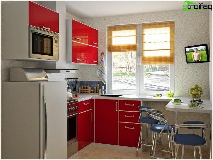 Corner kitchen hruschevke