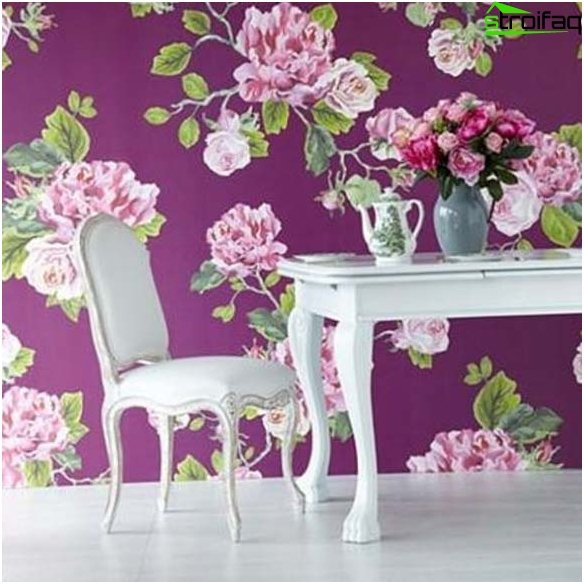 Wallpaper on your kitchen design