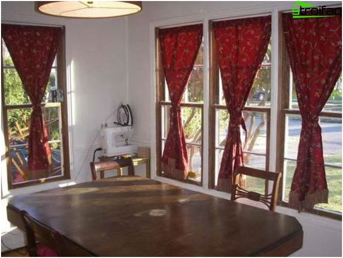 Curtains in a classic style