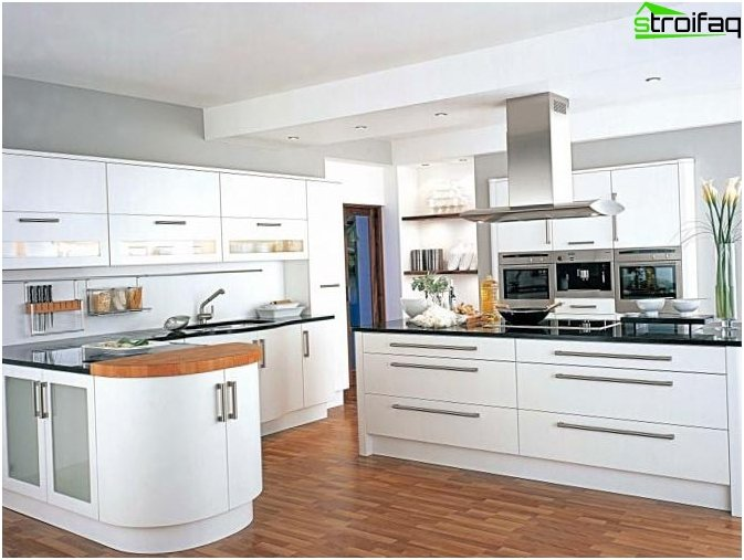 Photos kitchen design in the style of high-tech