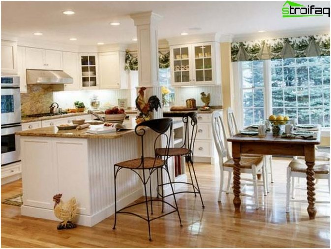 Kitchen design in country style