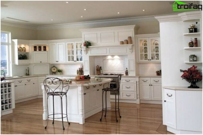 Kitchen design in country style 1