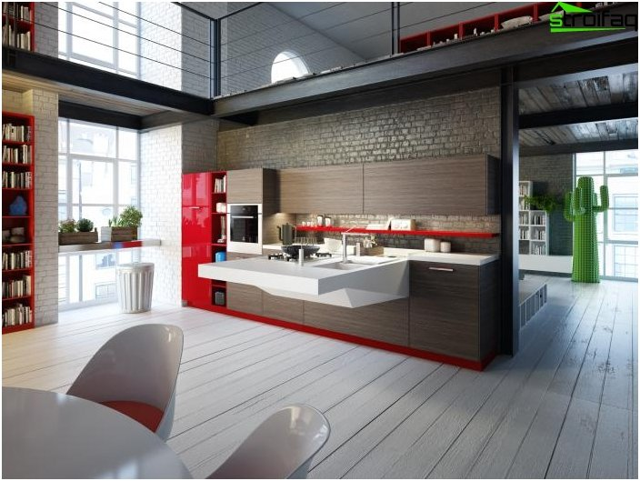 Kitchen design in a private house 1