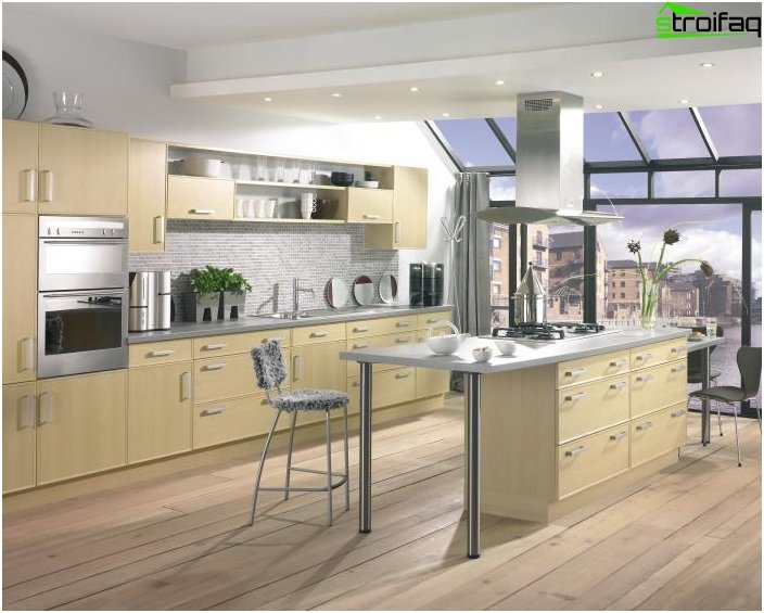 Kitchen design in a private house 2