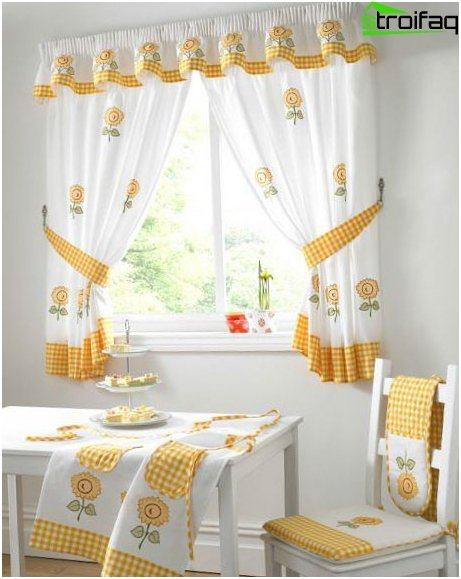 Curtains in country style