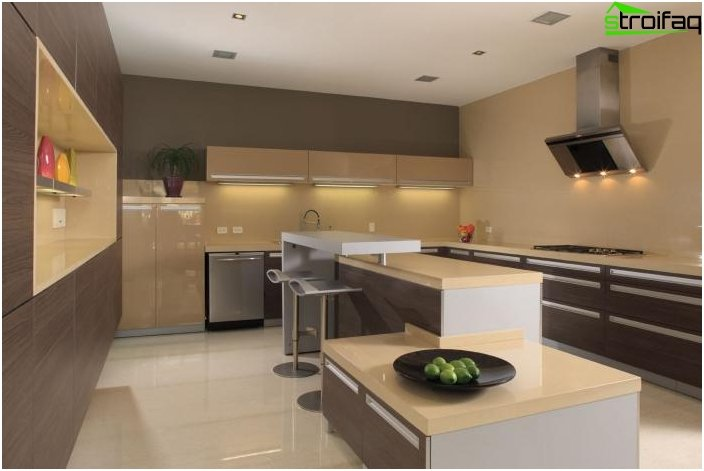 Kitchen in the style of hi-tech 1