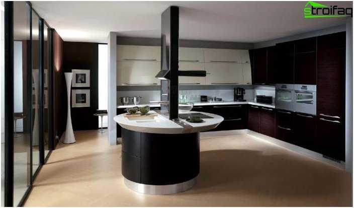 Kitchen in the style of hi-tech 2