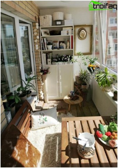 Design a small balcony