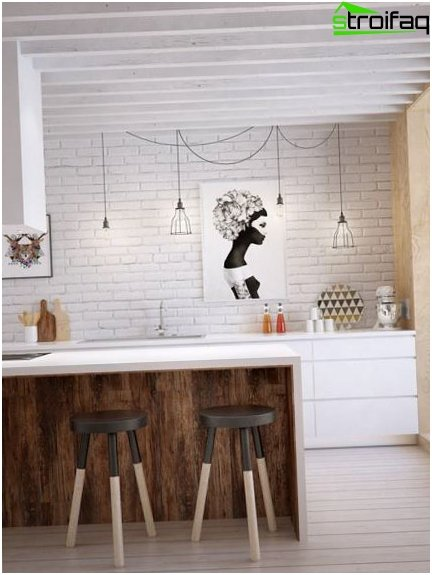Design kitchen 9 sq m 12