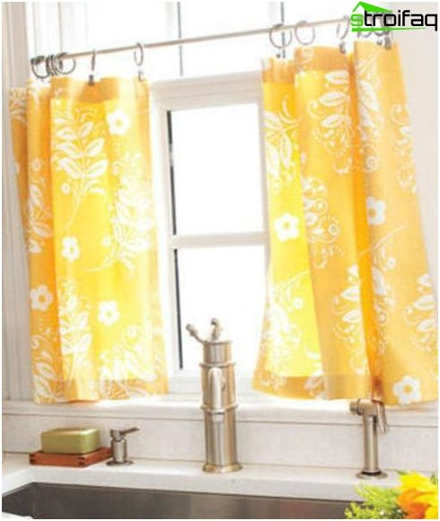 Kitchen curtains on rings