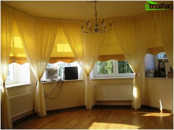 Curtains with a bay window