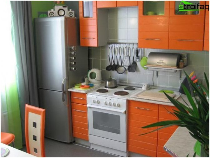 Kitchen design in Khrushchev 3