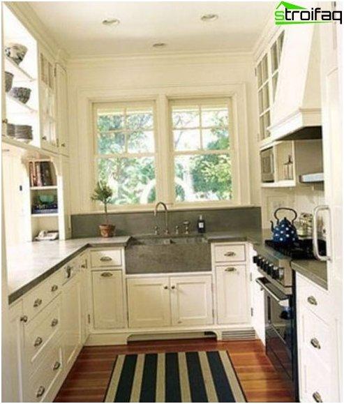Suunnittelu keittiö 9 m² Kuvia sisätilojen, parempaa