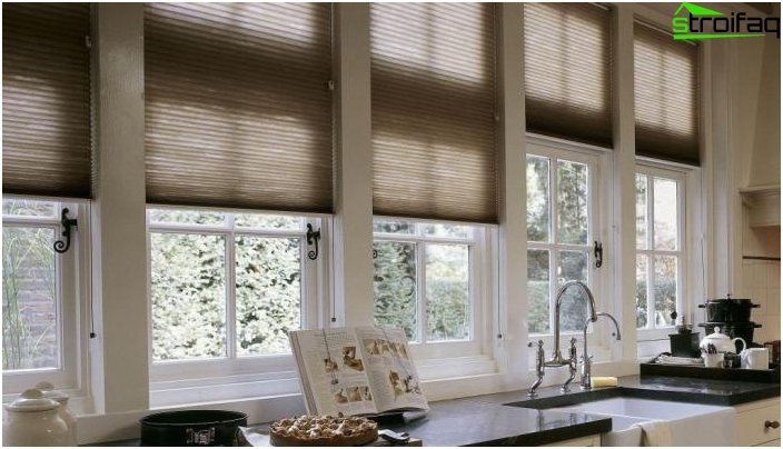 The design of the kitchen blinds