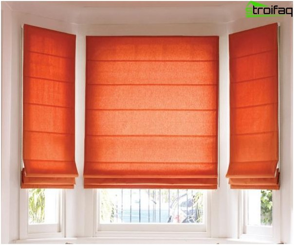 Roman blinds - photo