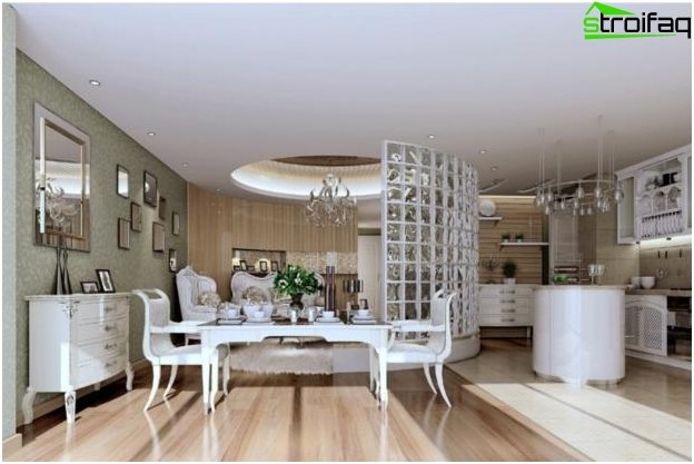 The design of the kitchen-living room - 8