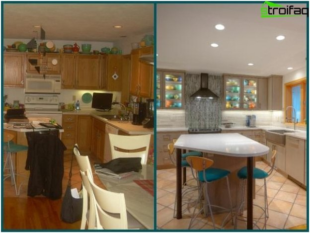 The design of the kitchen-living room - 13