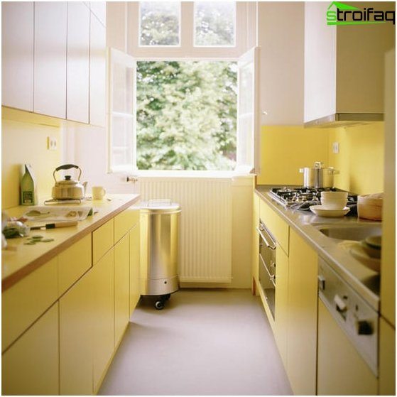 Kitchen design in yellow