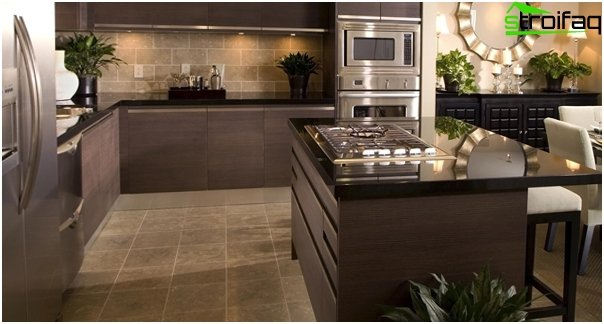 Tile in kitchen interior - 2
