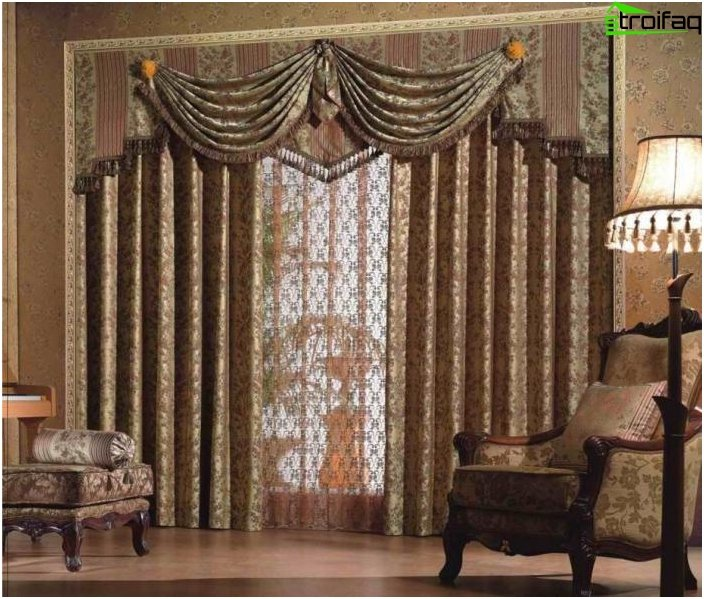 Design solutions - curtains for the living room and hall