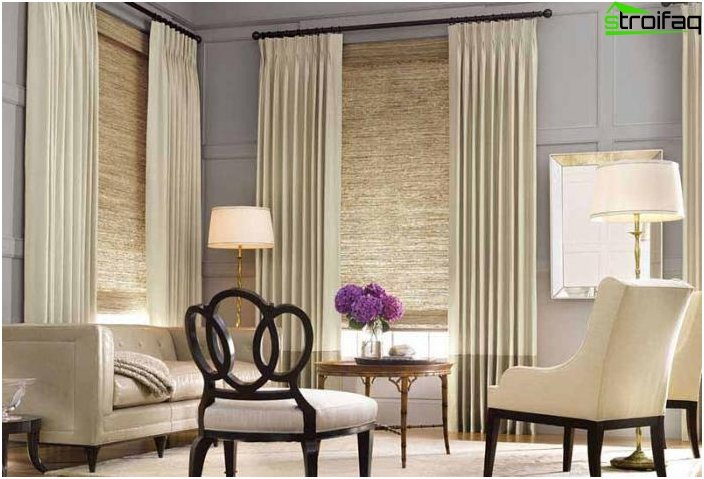 ... To The Window Frame Laconic Fabric Will Not Take Up Precious  Centimeters. Organically Fit Roller And Roman Blinds In The Interiors Of  Living Rooms, ...