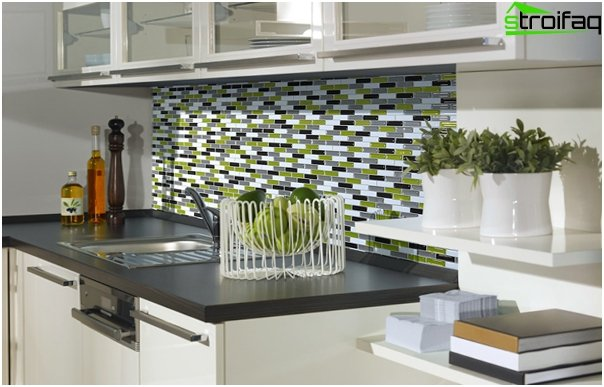 Tile in kitchen interior - 3