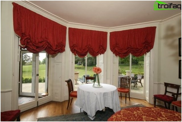 Austrian curtains design - photo