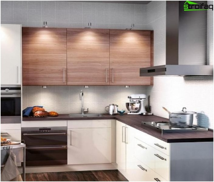 Kitchen design in a modern style