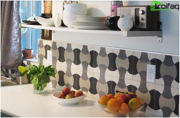 Tile in kitchen interior - 4