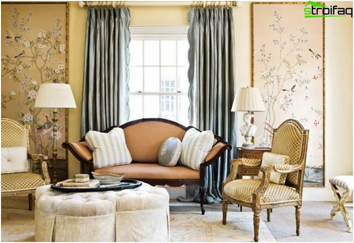 French style curtains design photo 1