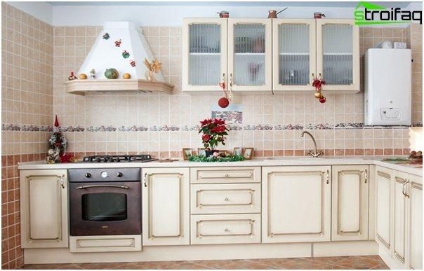 Tiles for kitchen (ceramic) - 1