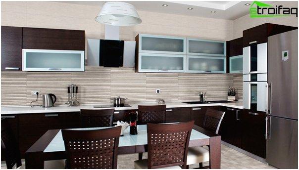 Tiles for kitchen (ceramic) - 2