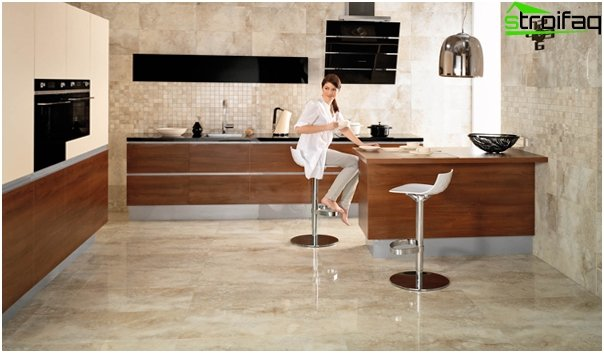 Tiles for kitchen (ceramic) - 4