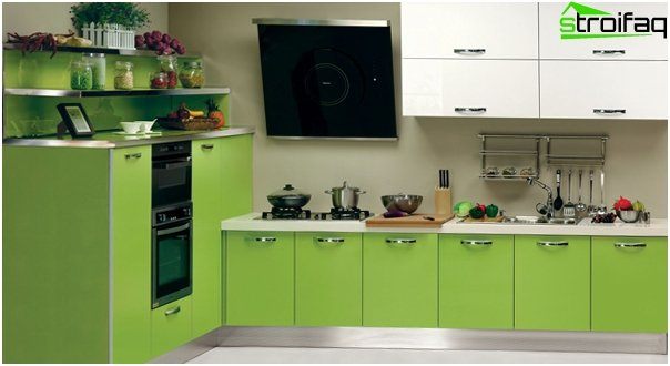 Kitchen set (linear layout) - 1