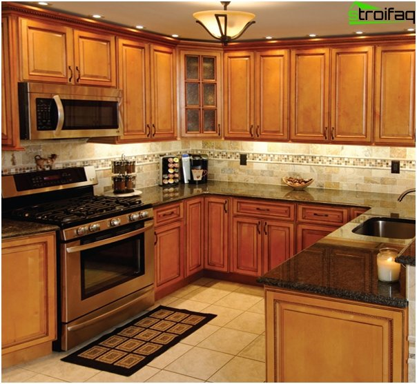 Kitchen set (U-shaped layout) - 1