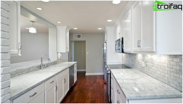 Tile in kitchen interior (stoneware) - 2