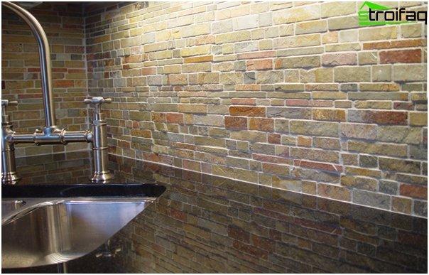 Tiles for kitchen (stone) - 1