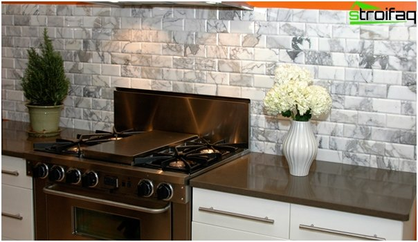 Tiles for kitchen (stone) - 4
