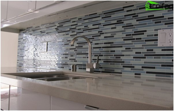 Tiles for kitchen (glass) - 1