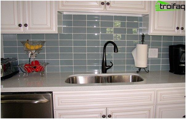Tiles for kitchen (glass) - 2