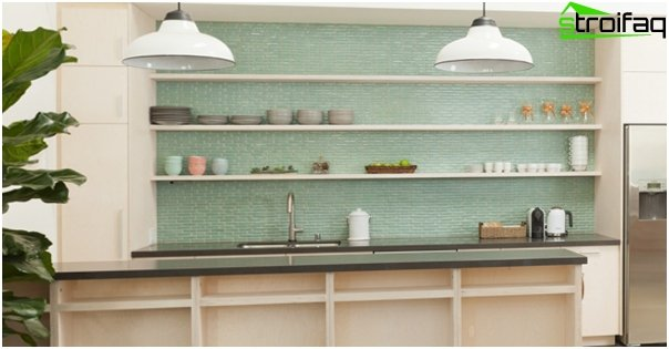 Tiles for kitchen (glass) - 3
