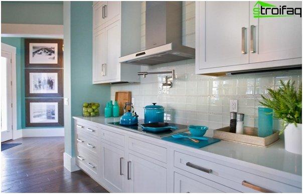 Tiles for kitchen (glass) - 4