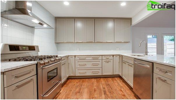 Tiles for kitchen (glass) - 5