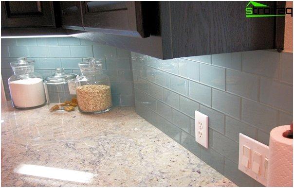 Tiles for kitchen (glass) - 6