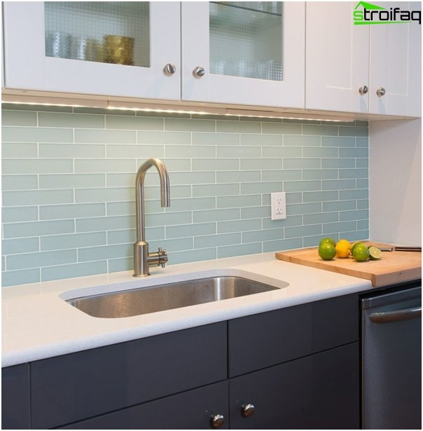 Tile in kitchen interior (glass) - 2