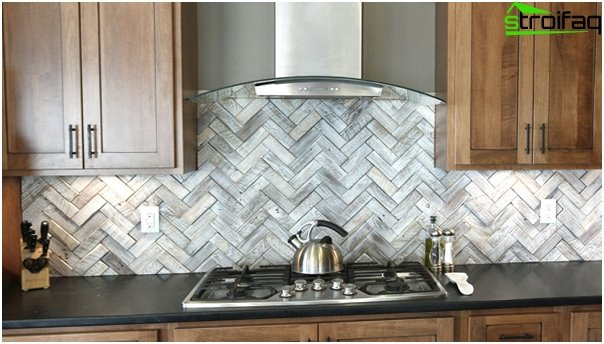 Tiles for kitchen (parquet laying) - 1