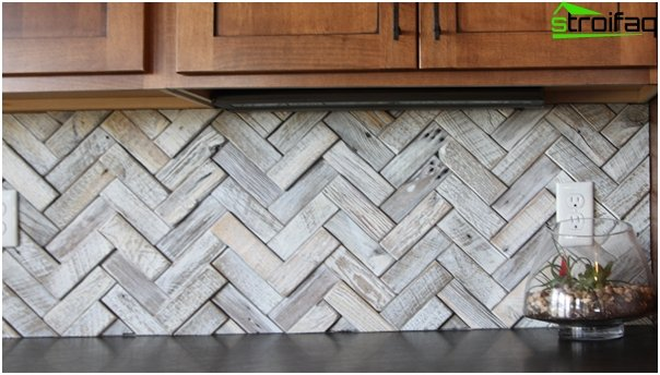 Tiles for kitchen (parquet laying) - 2