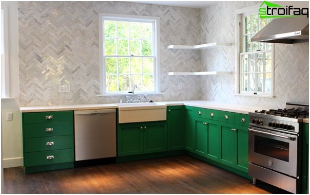 Tiles for kitchen (parquet laying) - 3