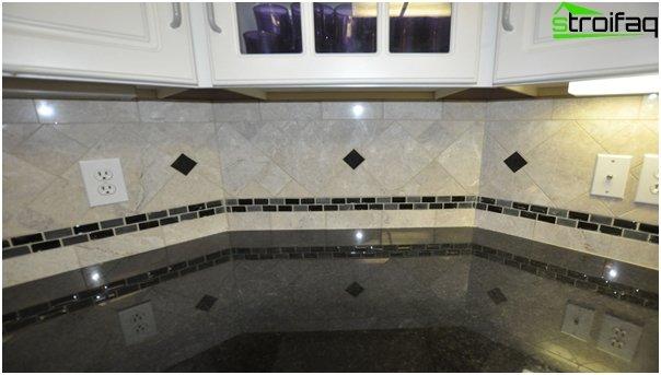 Tiles for kitchen (diagonal installation) - 1
